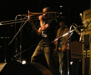 Trombone Shorty laid down a funk so dunk I was delirious.
