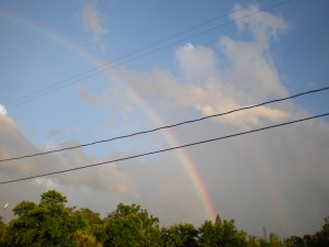 Last week's rainbow