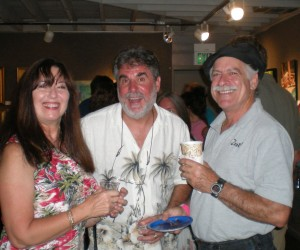 WSLR supporters Debbie and Bruce Zeilman with Chef John Arico, owner/chef of Zest! of Sarasota Catering.