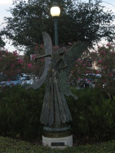 The fairy at the intersection near Florida Studio Theatre.