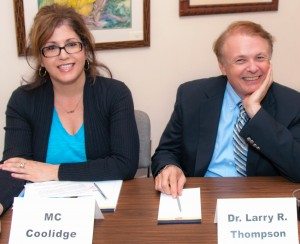 Totally enjoyed meeting Dr. Larry Thompson -- he's down to earth and very funny.  Charming guy.